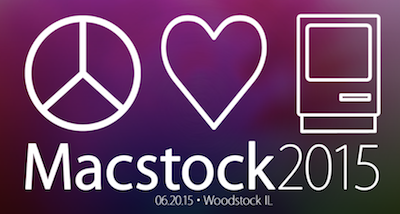 macstock logo showing a heart and an original mac and a peace symbol