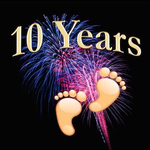 NosillaCast 10 year image feet, fireworks