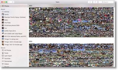 screenshot of photos showing zillions of photos