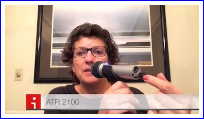 iMovie of me showing Niraj the ATR 2100 mic