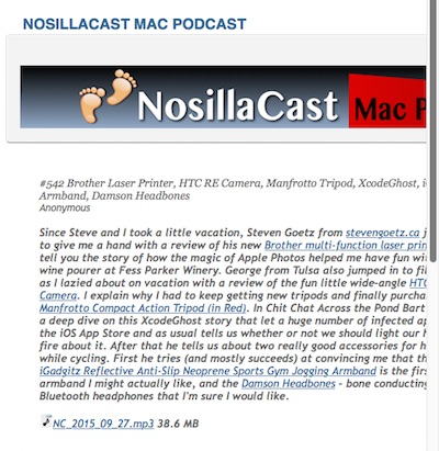poorly formatted, too wide, NosillaCast News
