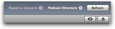 podcasting directory on the bottom