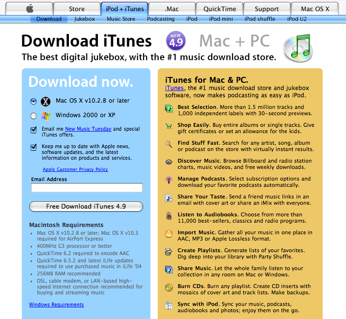 iTunes 4 9 tutorial