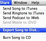 export to disk
