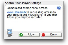 flash player settings for video and audio